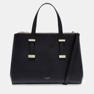 Ted Baker Faceted Bow Leather Tote Bag